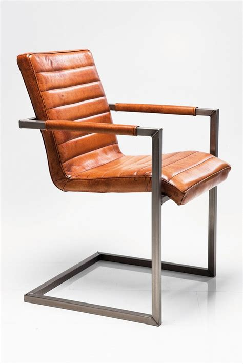 chaise cuir marron cantilever upholstered leather chair riffle buffalo brown