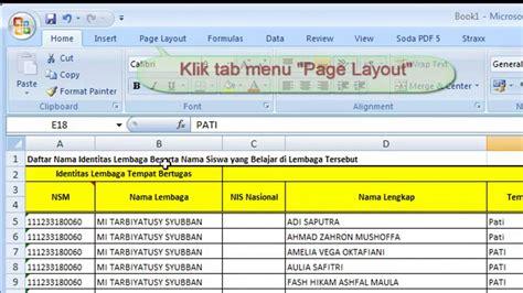 membuat judul tabel html tips excel cara membuat judul tabel berulang otomatis di