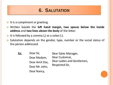 Business Letter Correct Salutation business letter