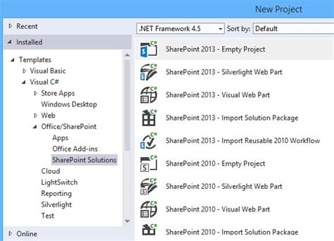 template project missing visual studio 2015 missing sharepoint 2016 project