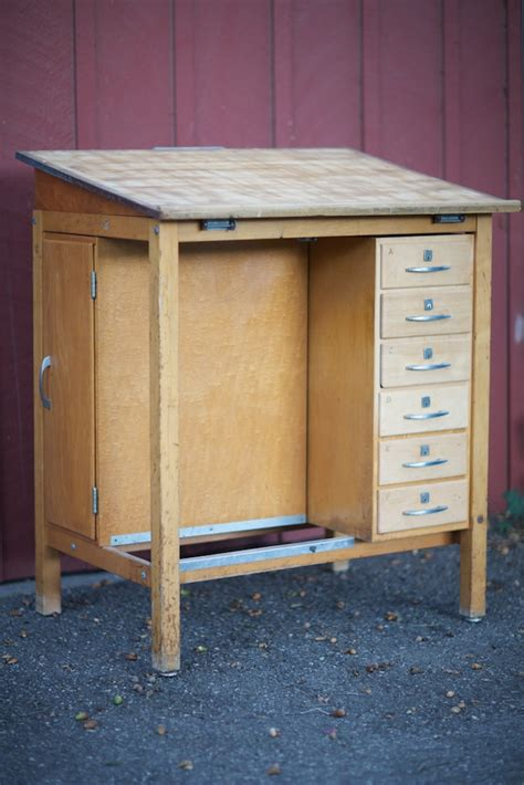 drafting table with drawers mid century 1950 s drafting table desk eclectibull