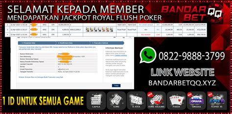 jackpot idn poker royal flush member bandarbetqq situs judi idn poker jackpot  dewa agen