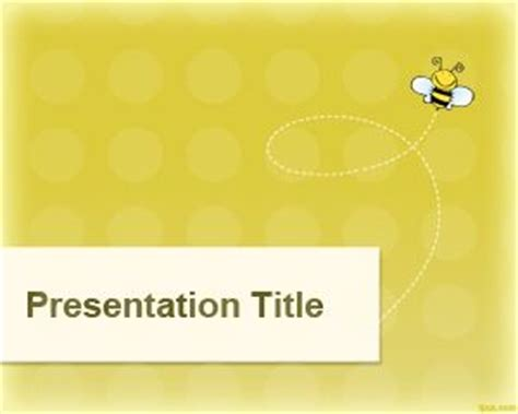 Bee Powerpoint Template yellow wasp powerpoint template