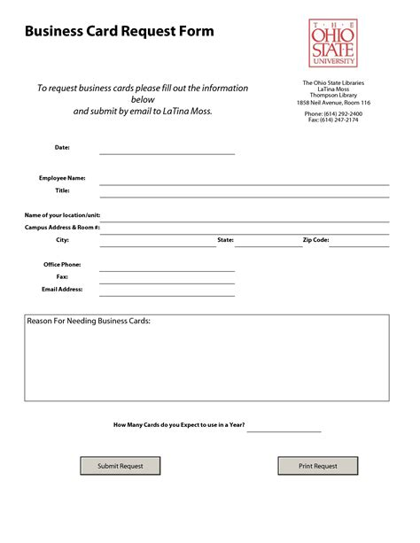 Request Letter Format For Visiting Card Best Photos Of Information Request Form Template