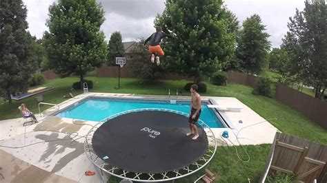 how to get into flipping houses quad front flip into backyard pool attempt youtube