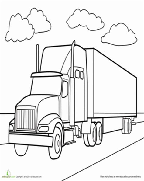 semi truck worksheet education com