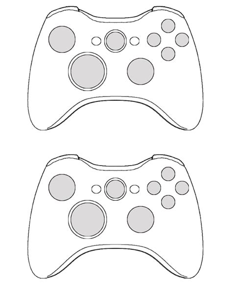 xbox controller skin template 360 controller template by d shade on deviantart