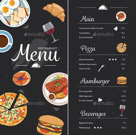 menu card template powerpoint chalkboard menu templates 37 free psd eps format