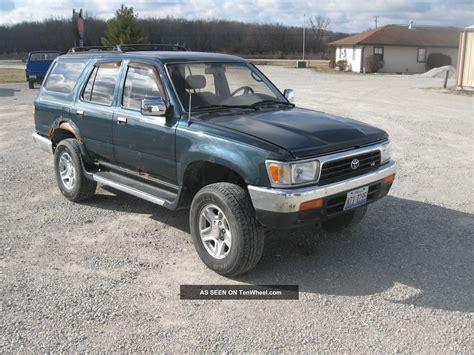 1995 Toyota 4runner 1995 Toyota 4runner Sr5 Sport Utility 4 Door 3 0l