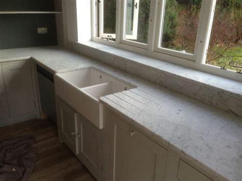 honed carrara marble kitchen worktops countertops