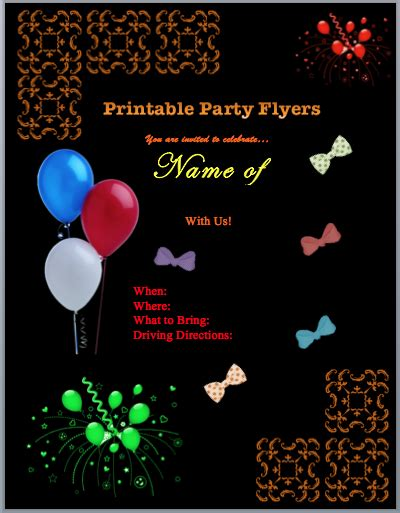 free printable event flyer templates family flyers free flyer templates