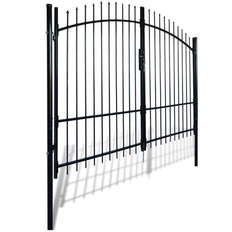 gate with door door fence gate with spear top 10 x 7 vidaxl