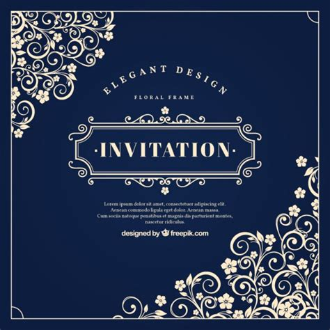 vintage invitation vectors photos and psd files free