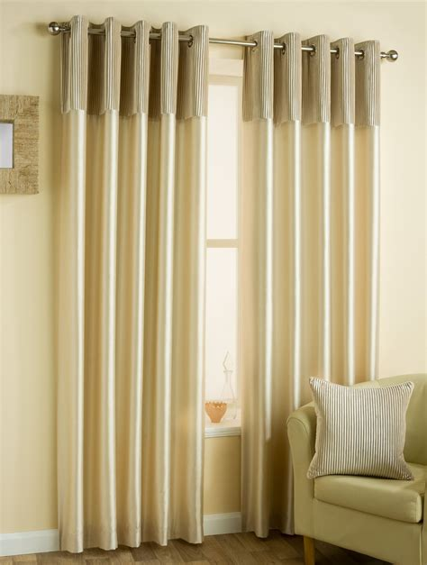 cream silk curtains faux silk pleated velvet cream lined ring top curtains