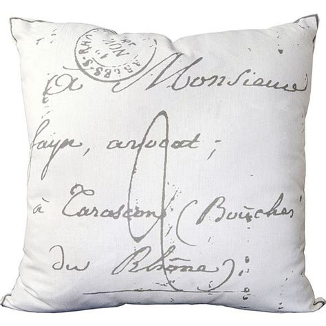 french pillows home decor surya french script pillow 52 cad liked on polyvore