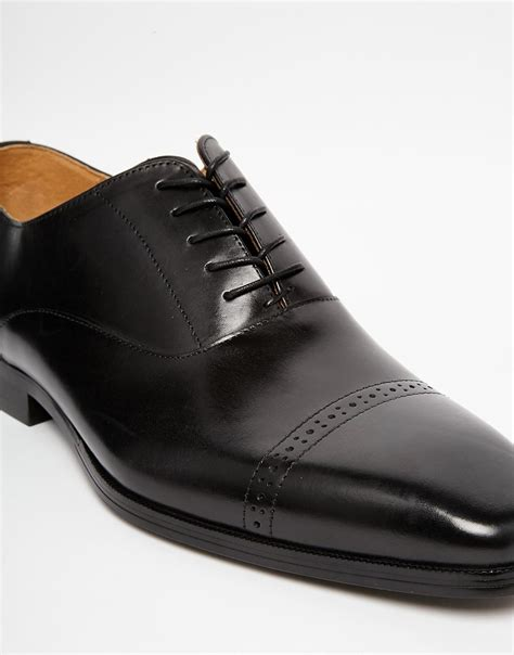 aldo welidama leather shoes in black for lyst