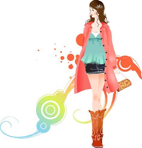 fashion pattern png download fashion girl transparent background hq png image