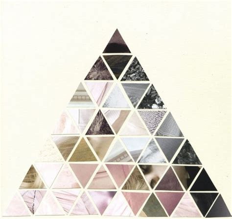 shape pattern collage triangle composition over and over pinterest