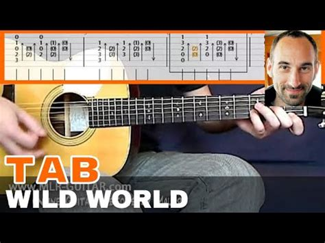 tutorial guitar wild world guitar cover tab quot wild world quot by mlr guitar youtube