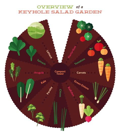 The Secret To Building A Salad Keyhole Garden Keyhole Garden Layout