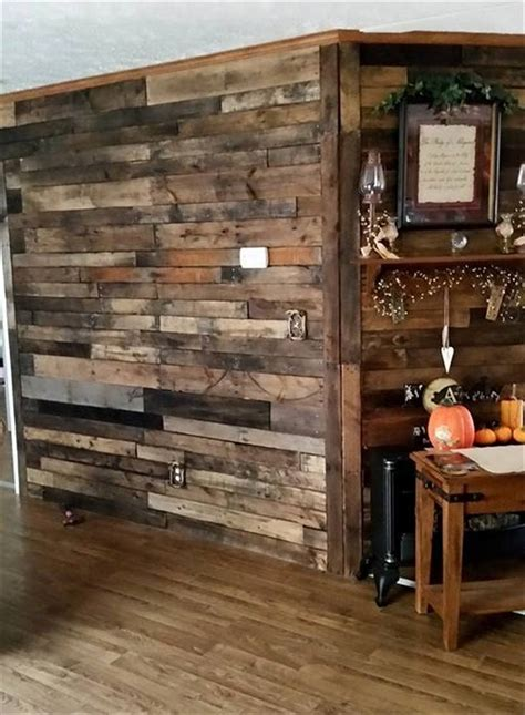 Built In Kitchen Desk wood pallet wall for hotter home interior decor