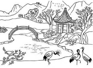 Landscapes  Beautiful Coloring Pages sketch template