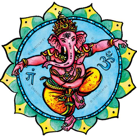 Fenster Aufkleber Ganesha tanzender ganesha fenster aufkleber 14 cm shakticards