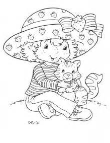 strawberry shortcake coloring book free printable strawberry shortcake coloring pages for