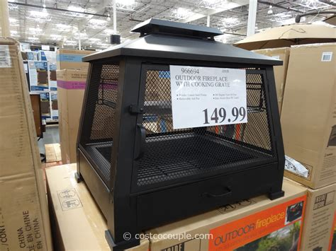 costco outdoor fireplace outdoor fireplace with cooking grate