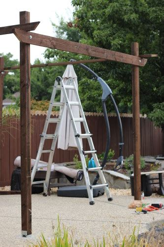 how to build a free standing pergola how to build a pergola my frugal adventures