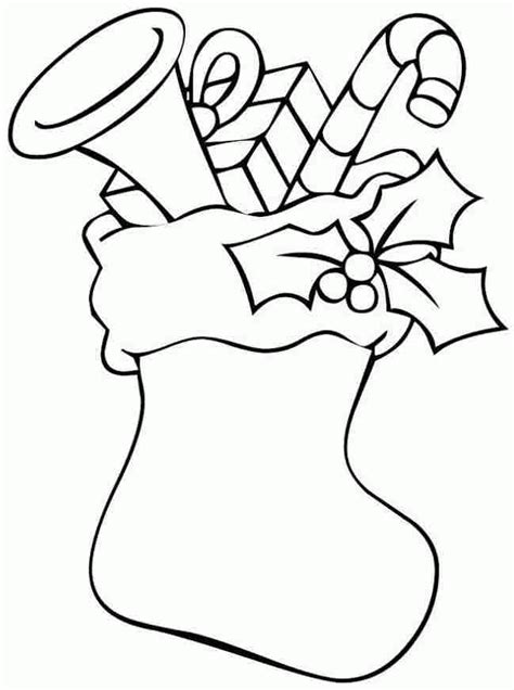 cute stocking coloring page printable christmas stocking coloring pages kids coloring