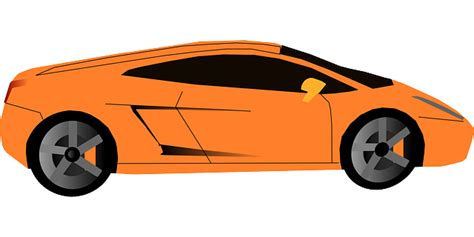 Car Cartoon Orange Transportation Sports Cars