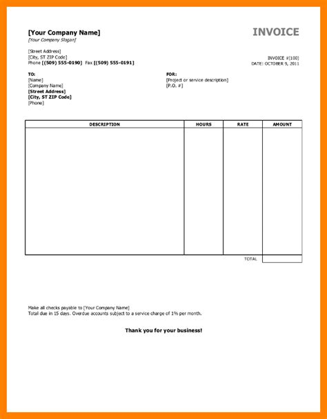 28 editable invoice template payroll template 15