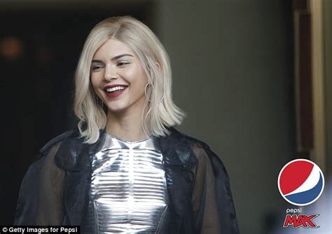 car commercial girl short blond hair kendall jenner goes platinum blonde filming pepsi max ad