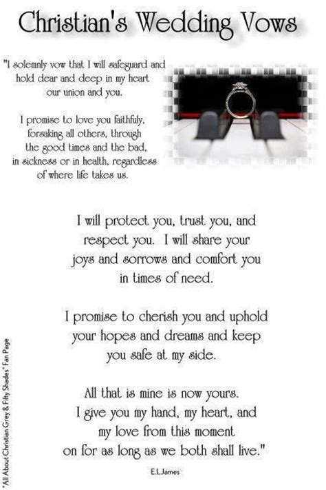 Wedding Vows Christian by Christian S Wedding Vows Wedding Bliss