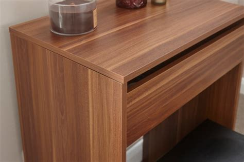 Compact Table And Stools by Gfw Compact Dressing Table And Stool In Walnut By Gfw