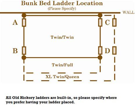 hickory bunk beds hickory timber bunk bed