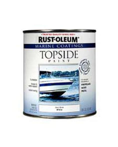 rust oleum 174 marine coatings gloss white topside paint 1 qt at menards 174