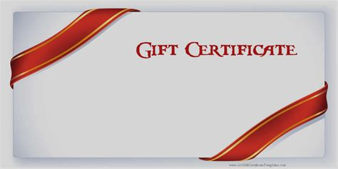 Free Images Of Gift Certificates