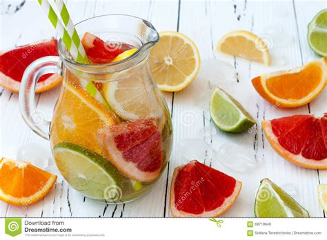 Lemon Lime And Grapefruit Detox Water by Detox Citrus Infused Flavored Water Refreshing Summer