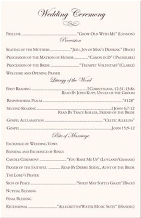 1000 ideas about wedding program templates on pinterest