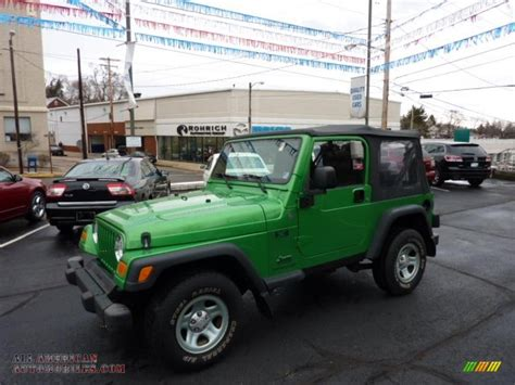 Lime Green Jeep Wrangler For Sale 2004 Jeep Wrangler X 4x4 In Electric Lime Green Pearl