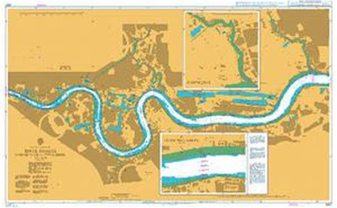 thames river navigation map admiralty chart 3337 river thames margaret ness to tower
