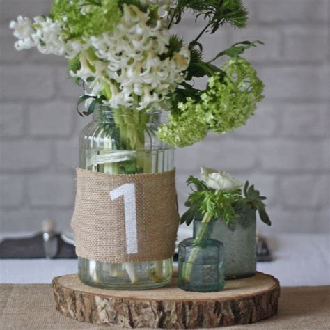 Hessian Wedding Table Numbers Set Of 12   Rustic Wedding