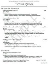 Resume Exles Byu by Sle Resumes Career Services