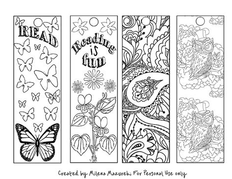 free printable bookmarks you can color free coloring bookmarks for back to school
