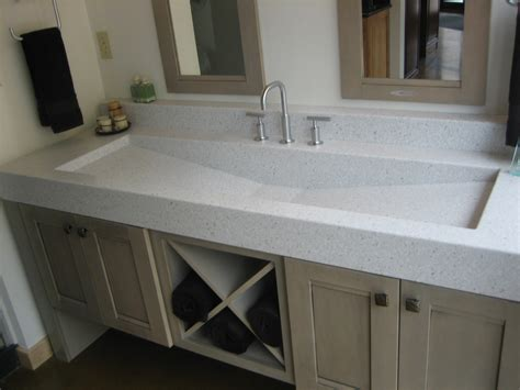 double faucet kitchen sink, Double Trough Bathroom Sink