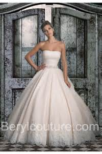simple colored wedding dresses simple gown strapless chagne colored tulle lace
