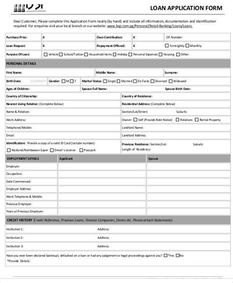 Store Credit Application Form Application Form Formats