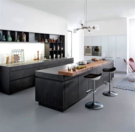 concrete kitchen design minimalist kitchen design from leicht adorable home